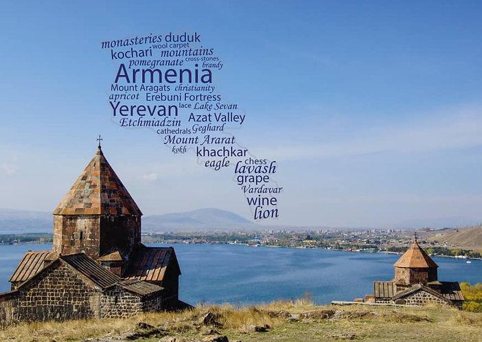 Armenia - WordCloud Postcard