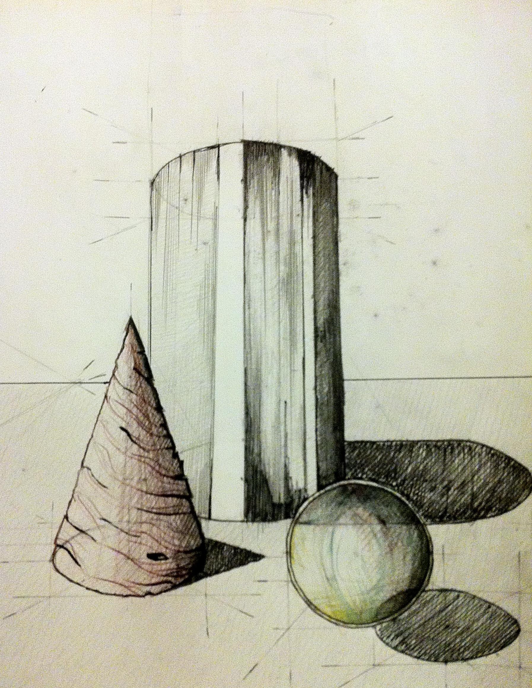 compozitie corpuri geometrice simple