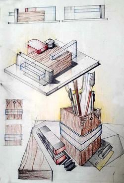 Suport creioane dupa Brancusi