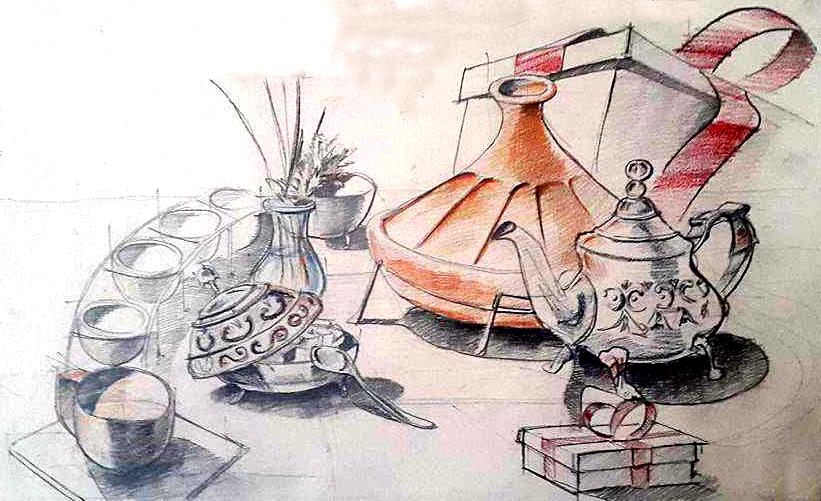 Compozitie obiecte ceai