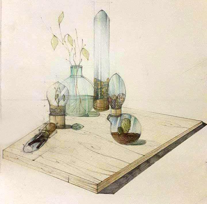 Compozitie obiecte din becuri