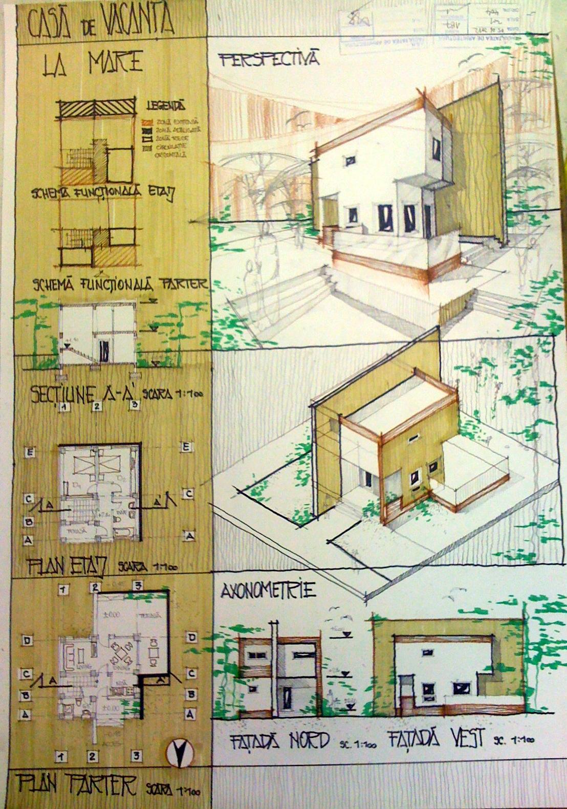 proiect - casa de vacanta la mare