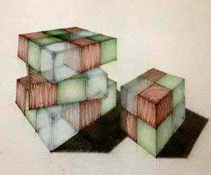 Cub texturi - perspectiva