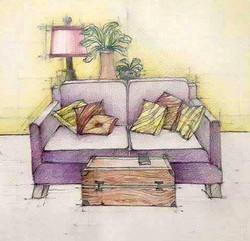 Aranjare perne canapea