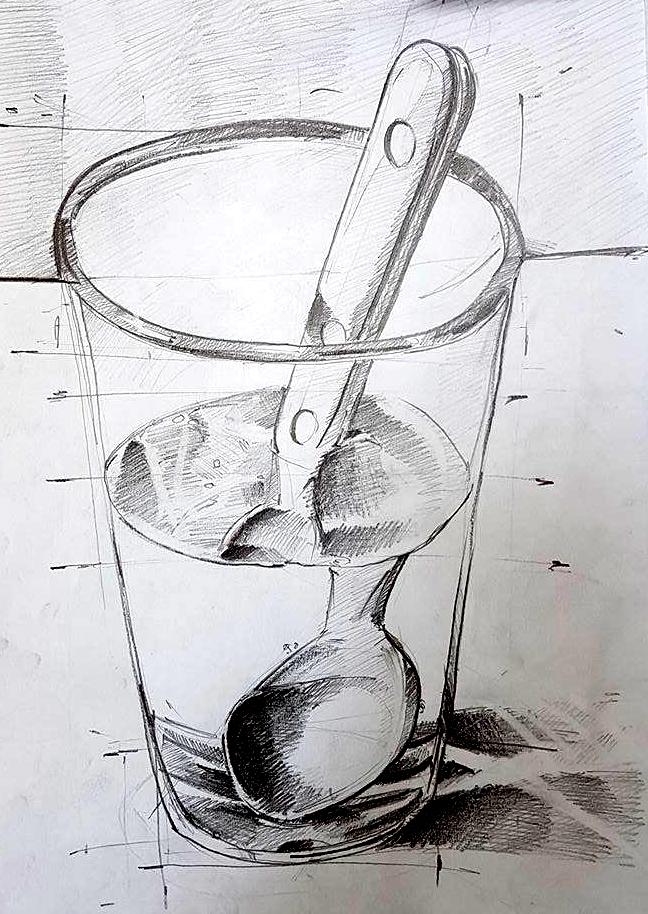 Textura metal prin sticla