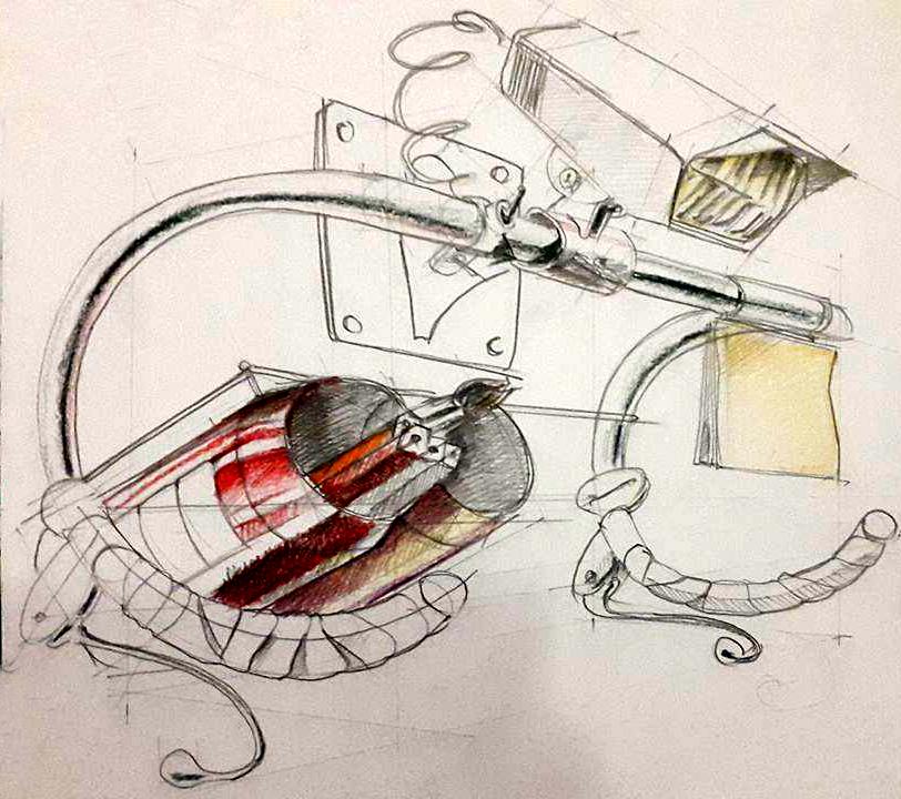 Concept obiect din piesa bicicleta