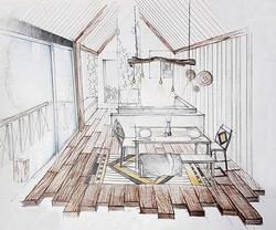 Perspectiva cabana montana