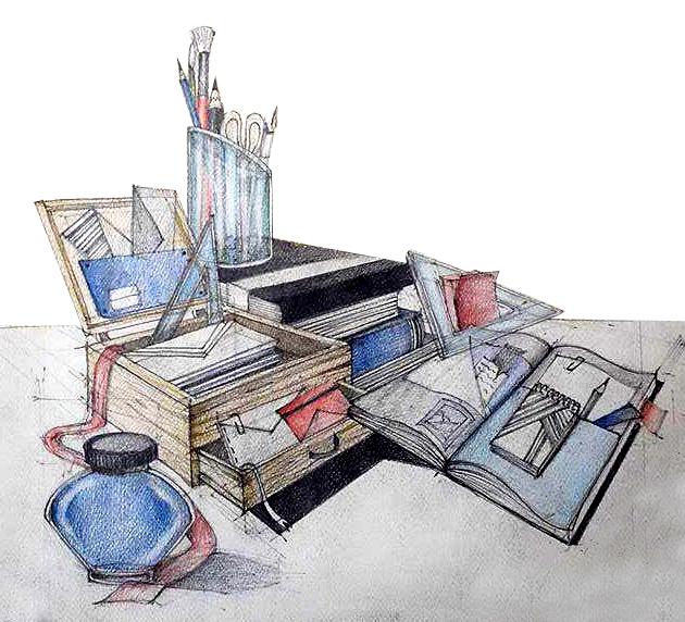 Compozitie obiecte birotica