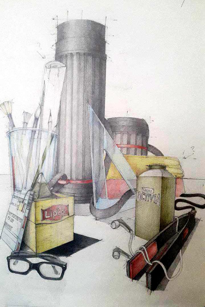 Compozitie obiecte desen