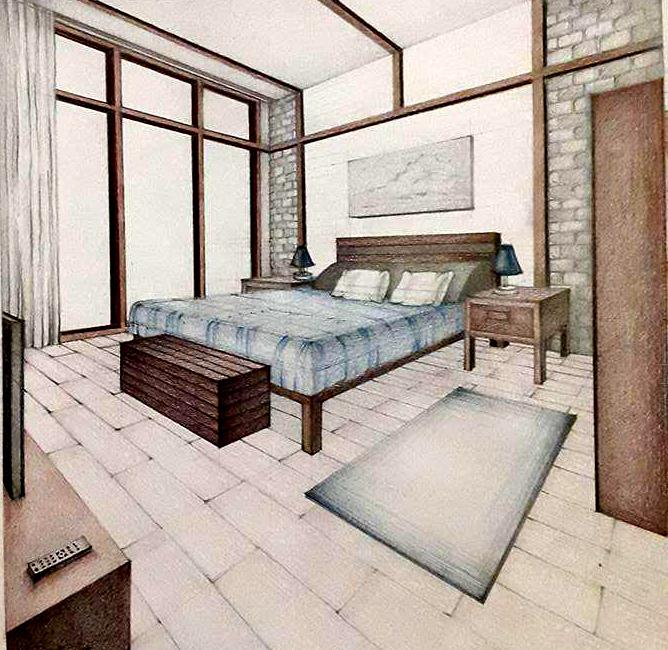 Dormitor cabana montana