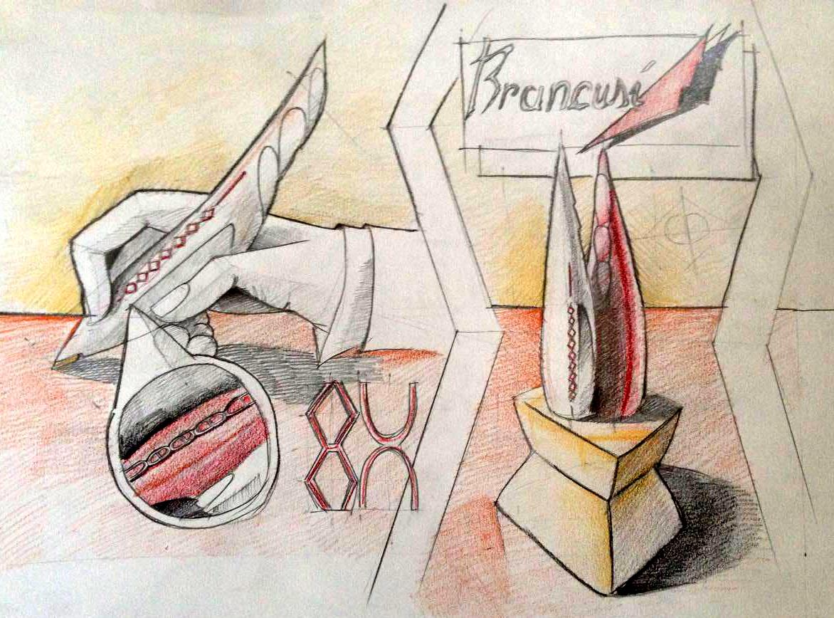 Stilou dupa sculptura de Brancusi