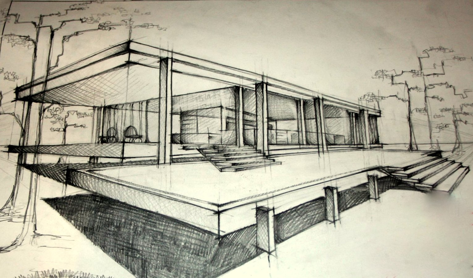 studiu - Mies van der Rohe