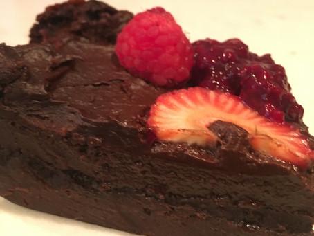 Tasty Tuesday: Flourless Chocolate Cake with Raspberry Sauce