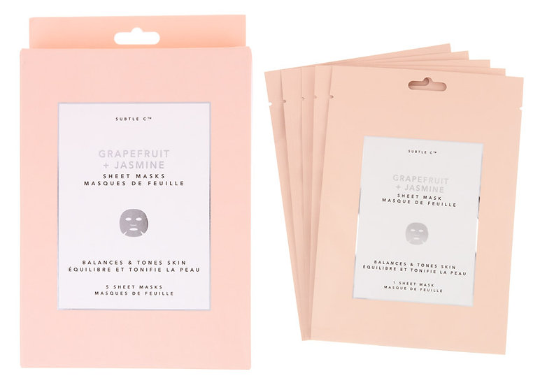 Grapefruit + Jasmine Sheet Mask