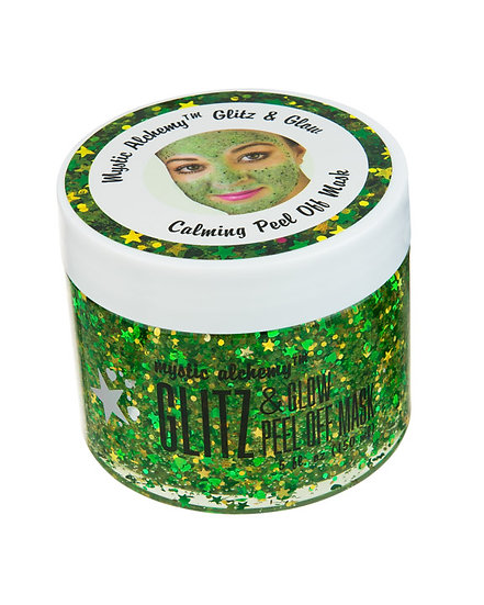 Green GLITZ & GLOW Peel off Glitter Mask