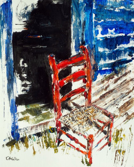 433-Old Red Chair