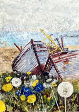563-Blue Boats