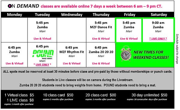 MZF - 2021 6 June Hours Classes Passes F