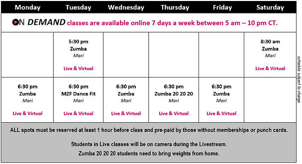 MZF - 2020 7 July Hours Classes Passes F