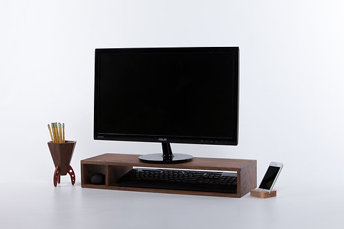 Walnut Computer Stand