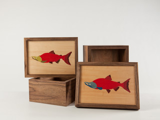 Salmon Tea Boxes