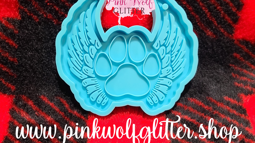 Paw with Wings Keychain Mold
