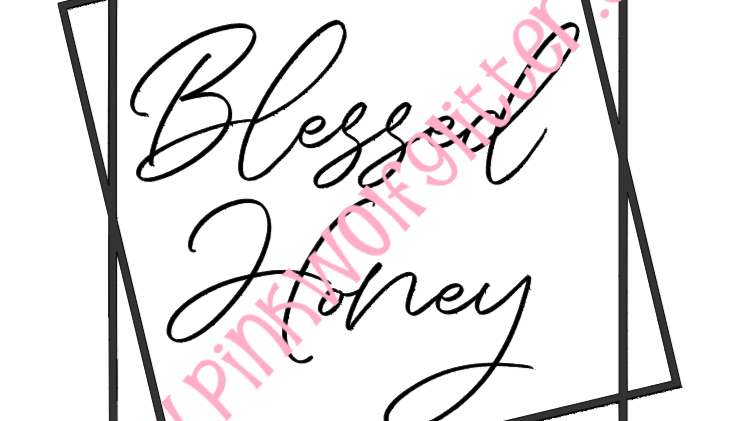Blessed Honey Double Square SVG