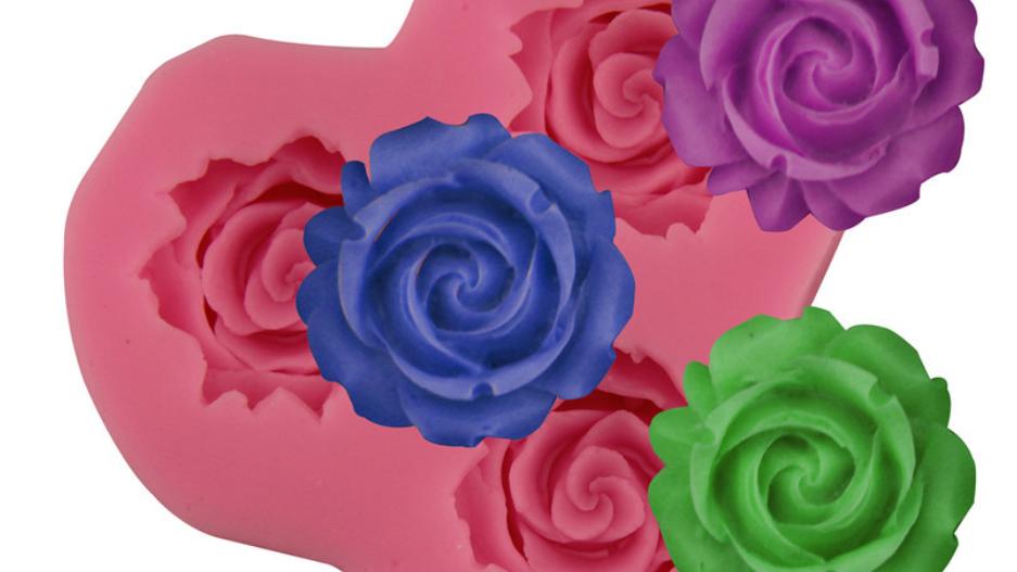 3x Rose Mold