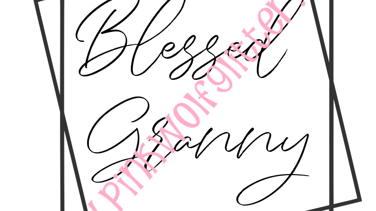 Blessed Granny Double Square SVG