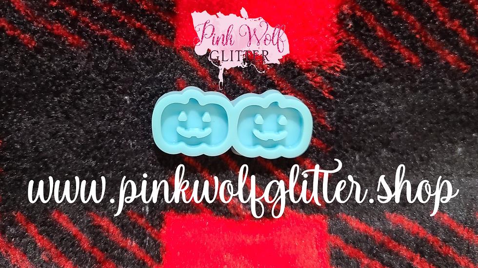 Pumpkin Jack-O-Lantern Stud Earring Mold