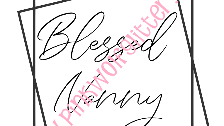 Blessed Nanny Double Square SVG