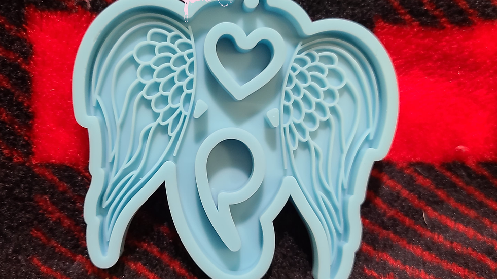 Semicolon with wings and heart Keychain Mold