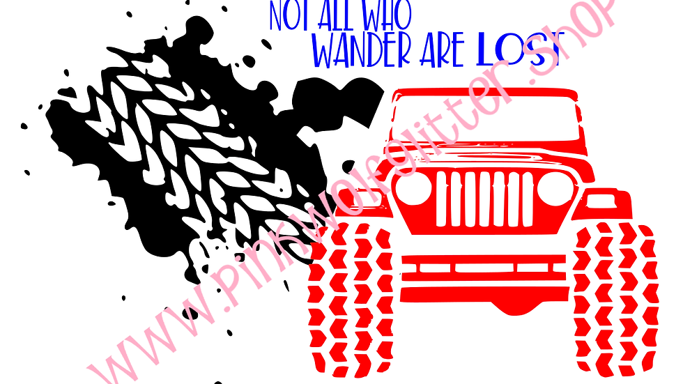 Not All Who Wander Jeep SVG
