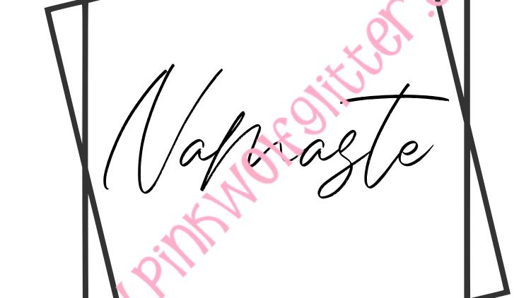 Namaste Double Square SVG