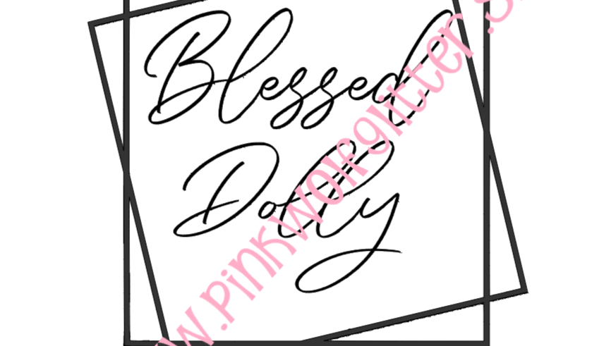 Blessed Dolly Double Square SVG