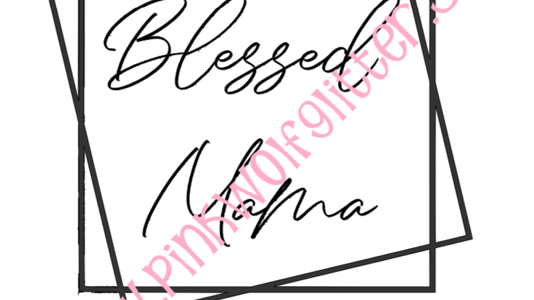 Blessed Mama Double Square SVG