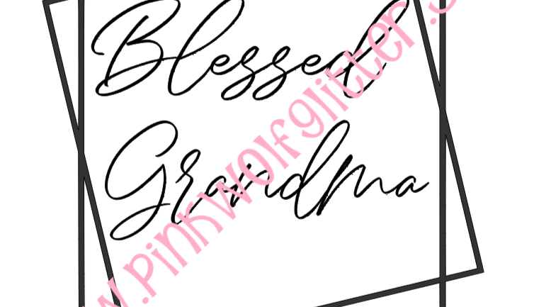 Blessed Grandma Double Square SVG