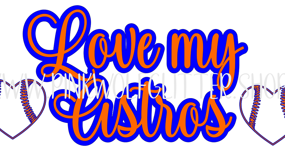 Love my Astros baseball SVG