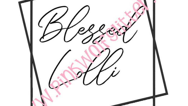 Blessed Lolli Double Square SVG
