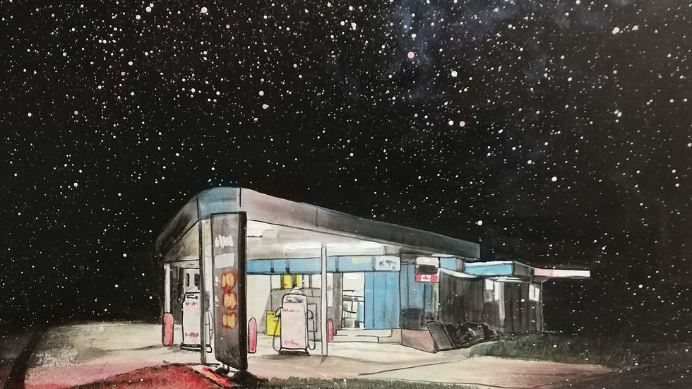 Gas station at the edge of the universe