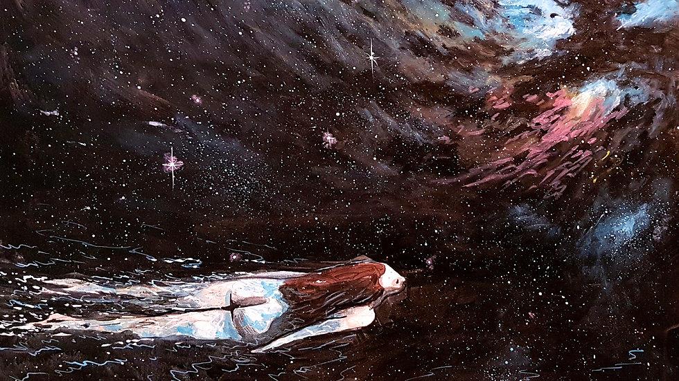 Galaxy Swimming Print
