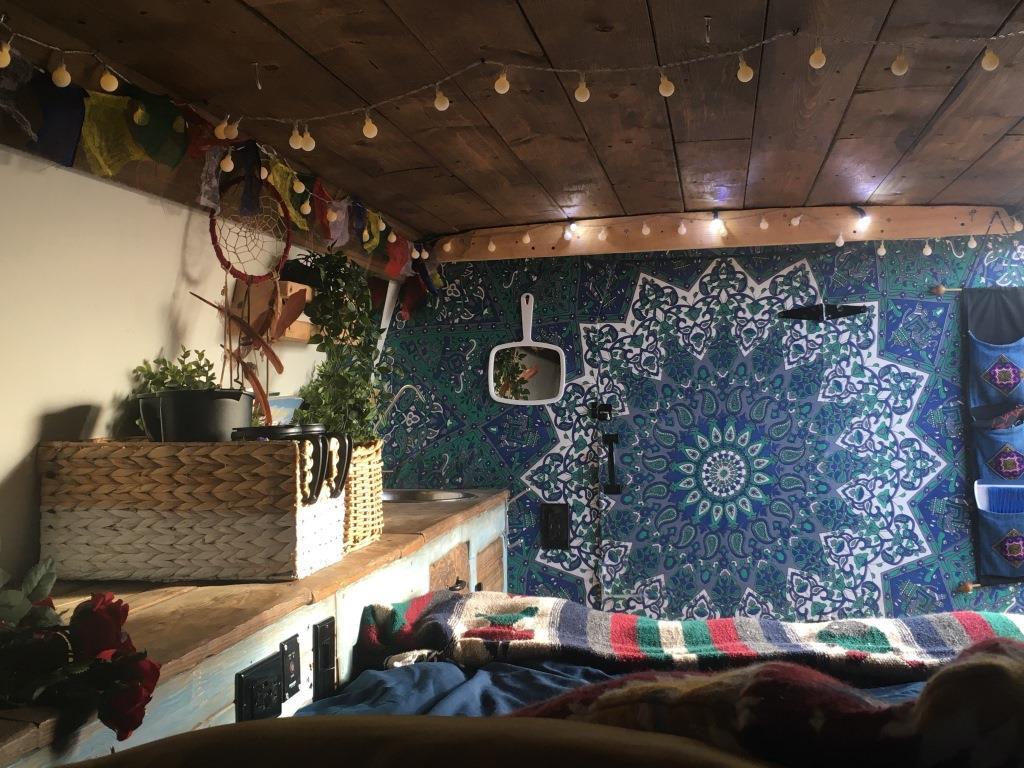 Hippy vibe inside the Dream Weaver