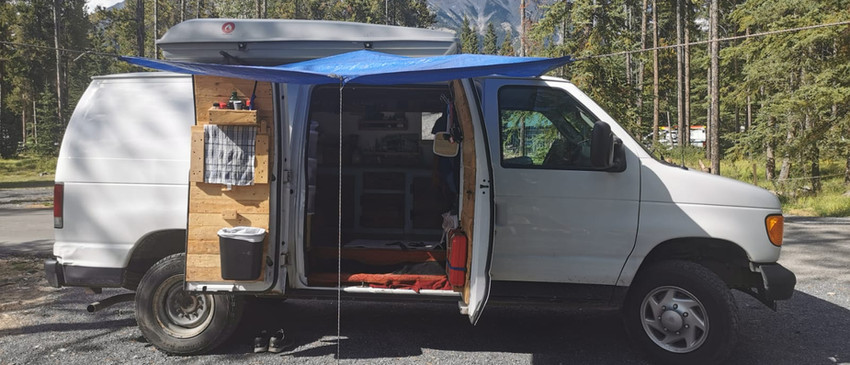 Awning protection when camping