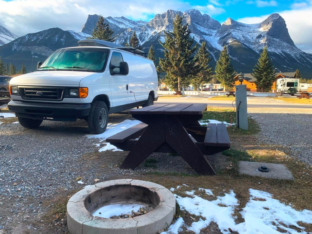 Mountain view campground Canmore