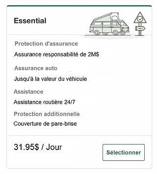Forfait d'assurance Essential avec une l
