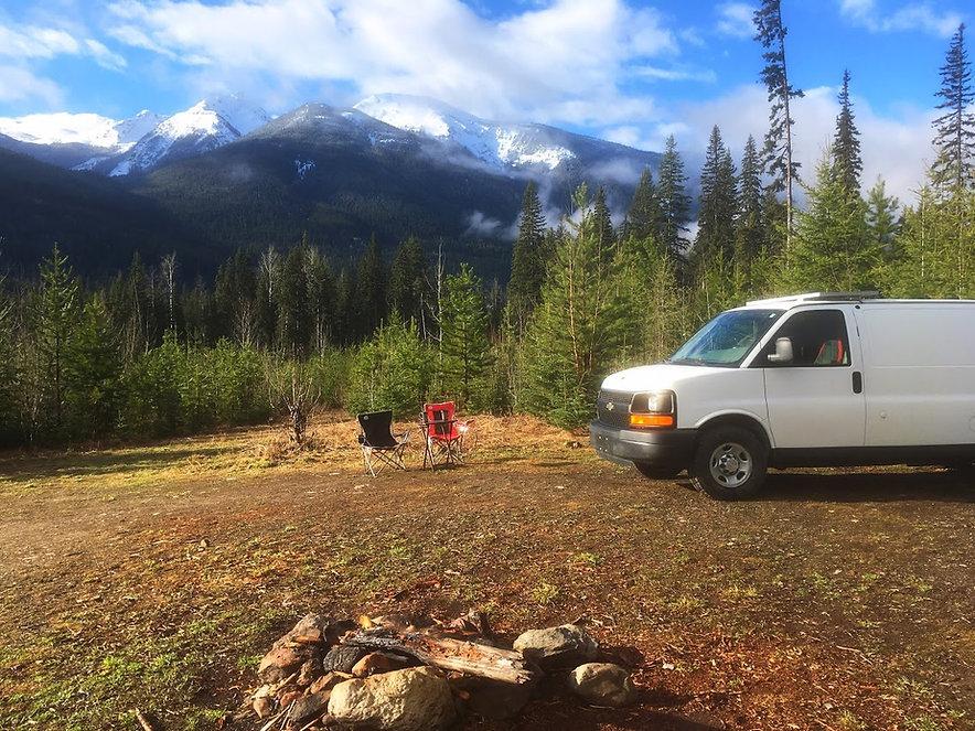 Campervan rental near Jasper National Park