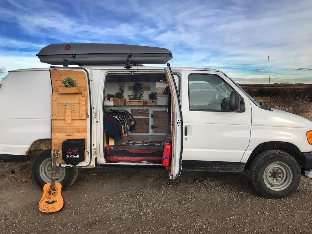 Guitar resting by the RV
