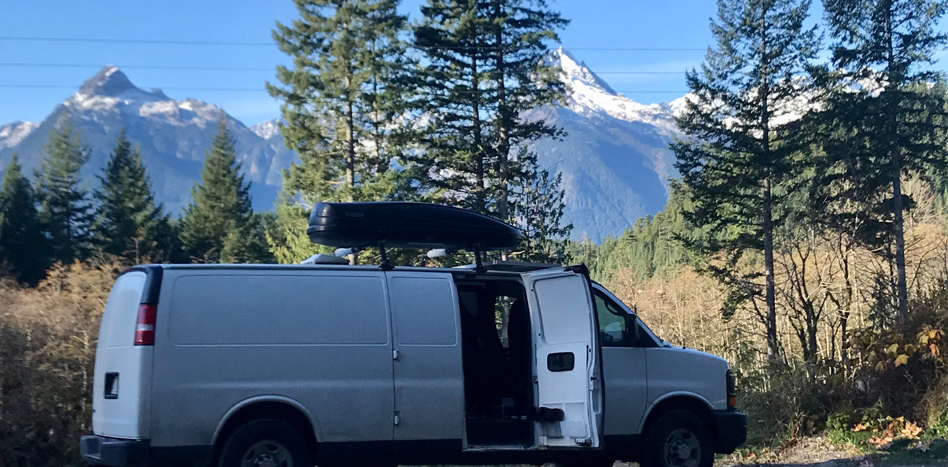 Camper for hire in the mountains