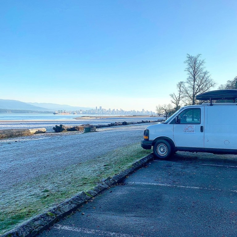 Campervan by the beach