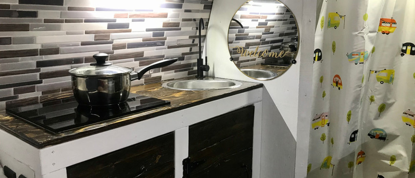 Kitchen for vanlife experience